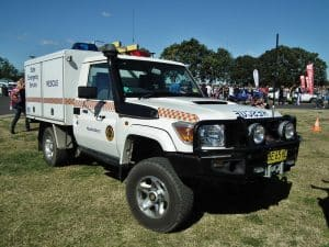SES truck parked